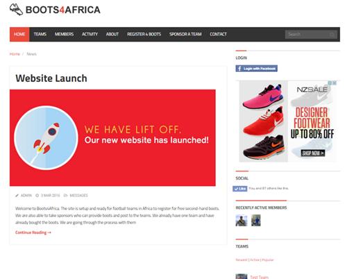 boots4africa.com snapshot